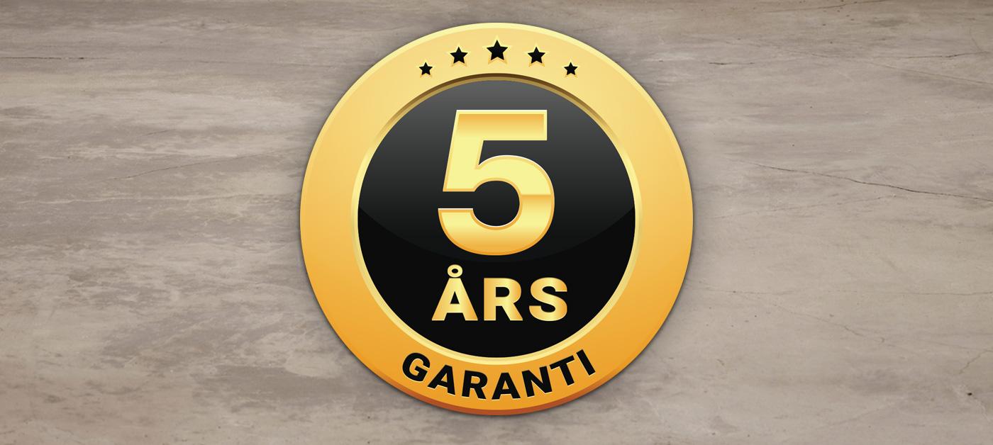 5 års garant på vinskap